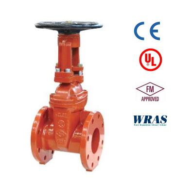 AWWA UL/FM T/E OS&Y flanged joint ends gate valve