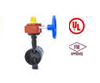 UL/FM/WM grooved ends butterfly valve